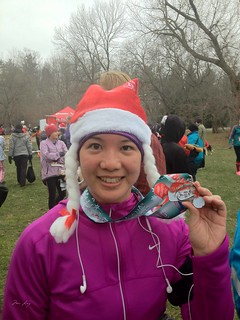 with my race medal