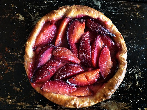 plum tart with danish pastry