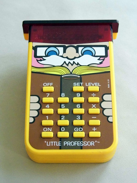 Vintage Texas Instruments Little Professor Game Calculator Made In USA Cost Was 1695