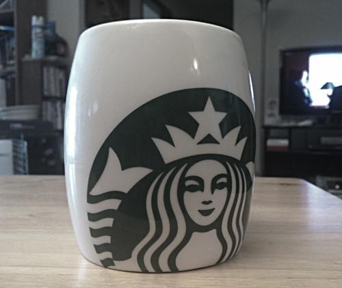 A Starbucks mug