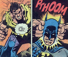 Batman gets plunked