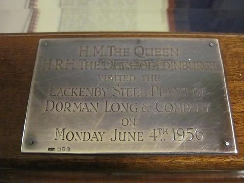 Lackenby Royal Visit, 1956