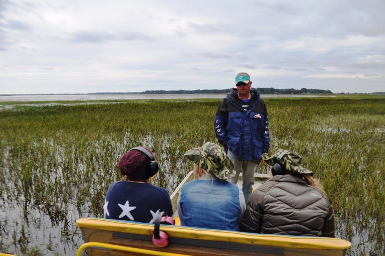Capt. Scott Talks About the Florida Everglades During an Orlando Airboat Tour, Nov. 2014