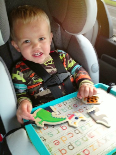 Bonus The Trays Are Magnetic So All Of Our Toys With Magnets Were Instant Hits DIY Travel Tray Lets Run Away Together
