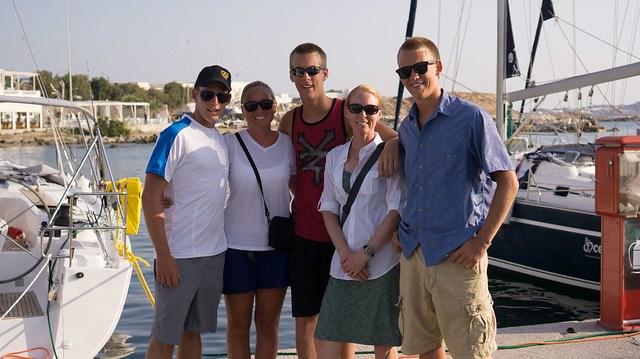 Heading out to explore Naxos Chora