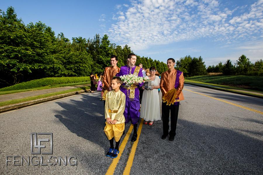 Cambodian wedding processional