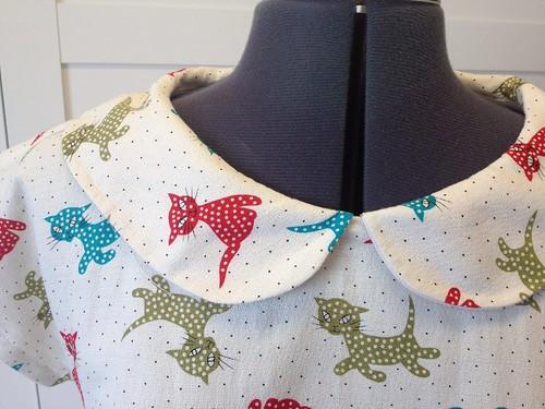 Nine Lives dress collar closeup