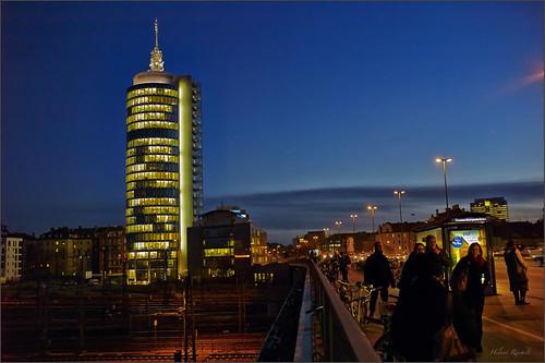 Abends auf der Donnersberger Brücke