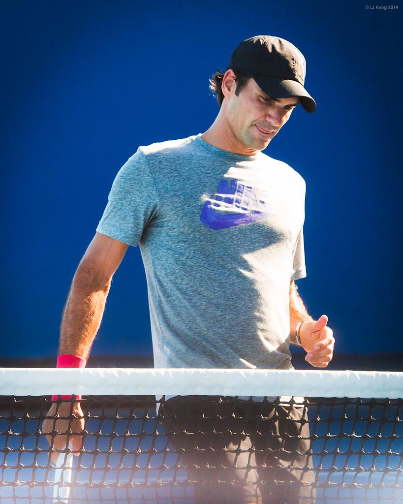 Roger Federer Australian Open 2014 Practice