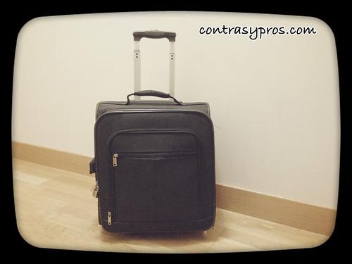 Maleta de viaje, padres que viajan por negocios