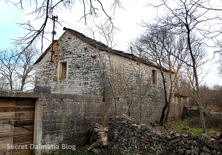 Traditional stone house of Bukovica. High end version