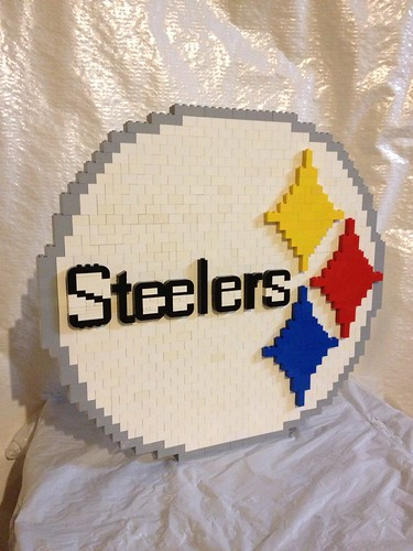 Pittsburgh Steelers logo in lego