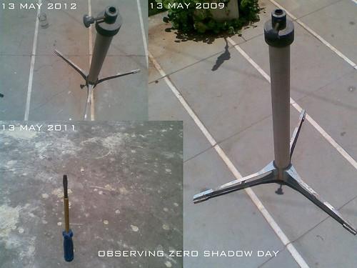 observing zero shadow