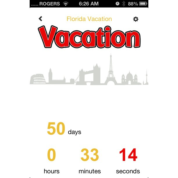"""July 26 - looking forward {to my vacation with a """"count-down"""" app} #photoaday #apps #vacation"""