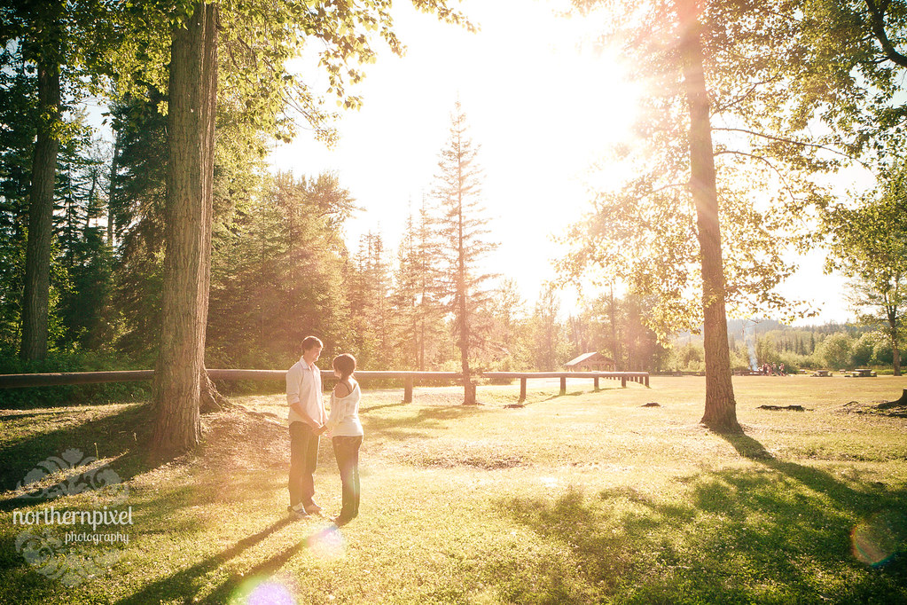 Engagement Session Sunflare at Wilkins Park Northern BC Photographer