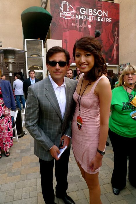 Steve Carrell and Jeane Napoles