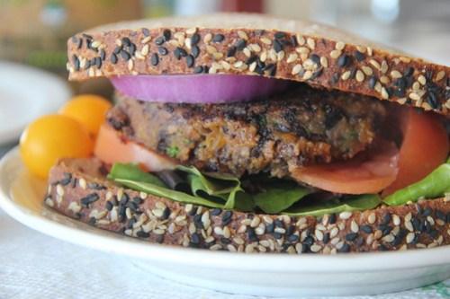 Butternut Squash and Black bean burger