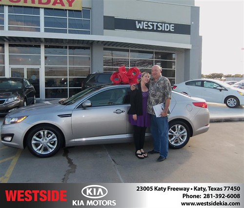 Happy Anniversary to Jerry M Phillbrook on your 2013 #Kia #Optima from Wilfredo Suliveras  and everyone at Westside Kia! #Anniversary by Westside KIA