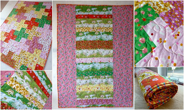 Heather Ross Plus Cot quilt finished