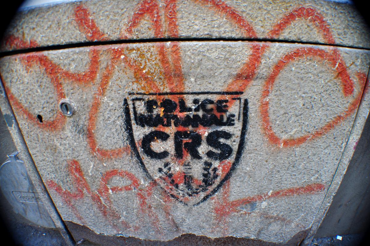 Pochoir Police Nationale CRS #2