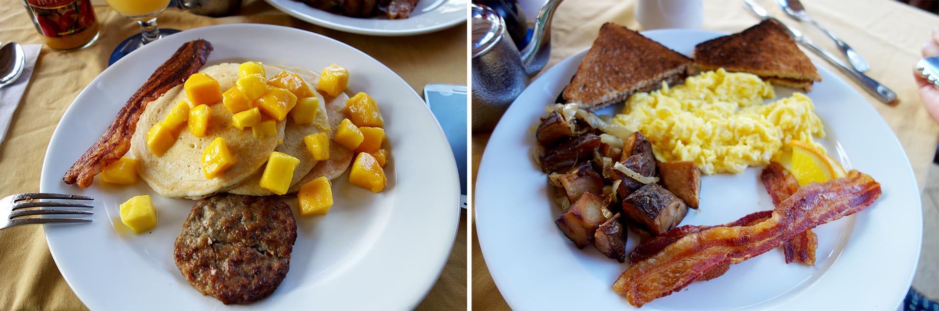 Breakfast at The Lobster Grill, Bolongo Bay Resort.