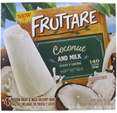 Fruttare Coconut and Milk Frozen Fruit and Milk Dessert Bar Box