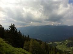 Ausblick Bergpanorama mit Peitlerkofel