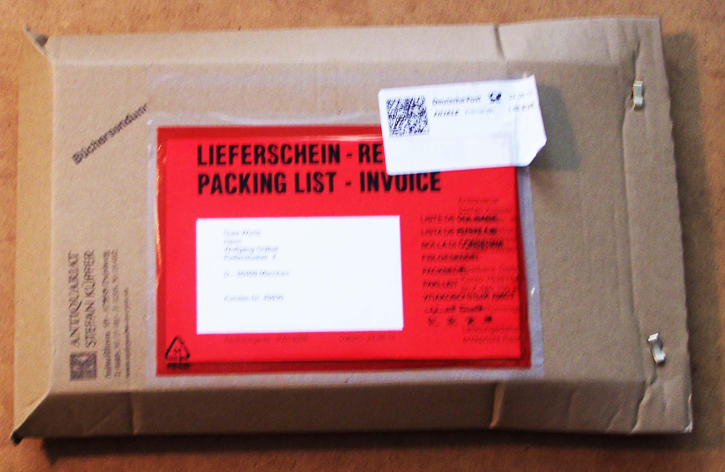 Büchersendung verpackt