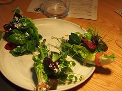 Start: Herbs and pistachio