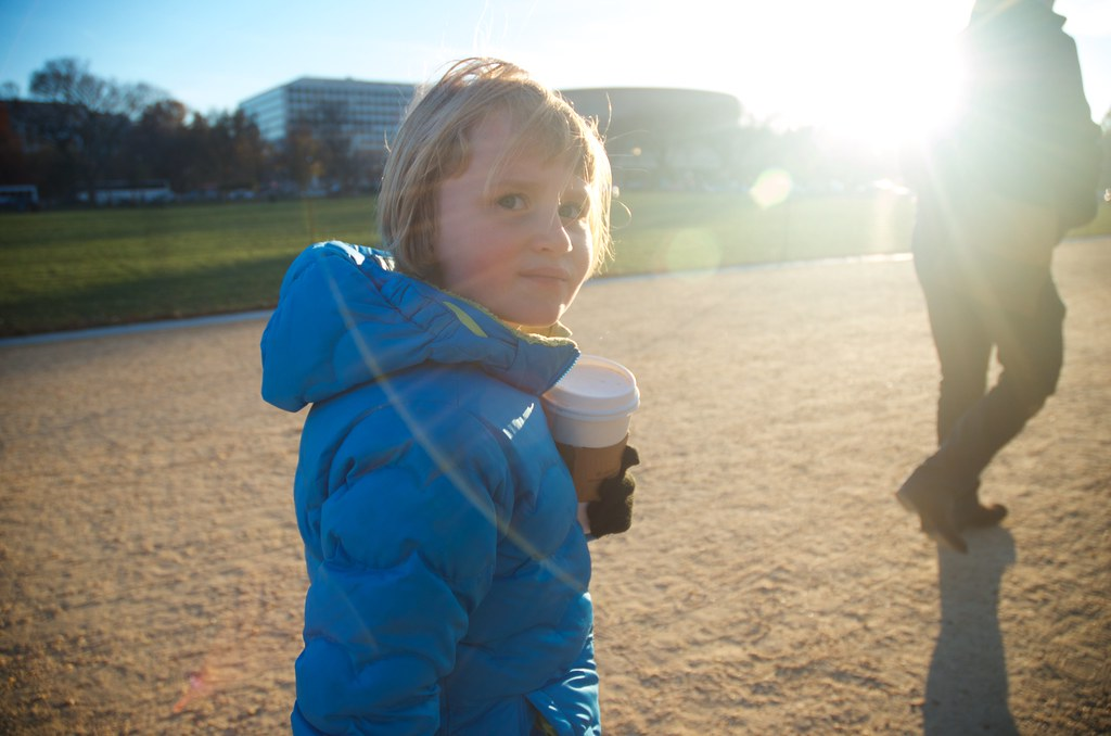 Hot chocolate on the National Mall