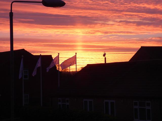 Sunrise over Holderness Grange Lifestyle Village