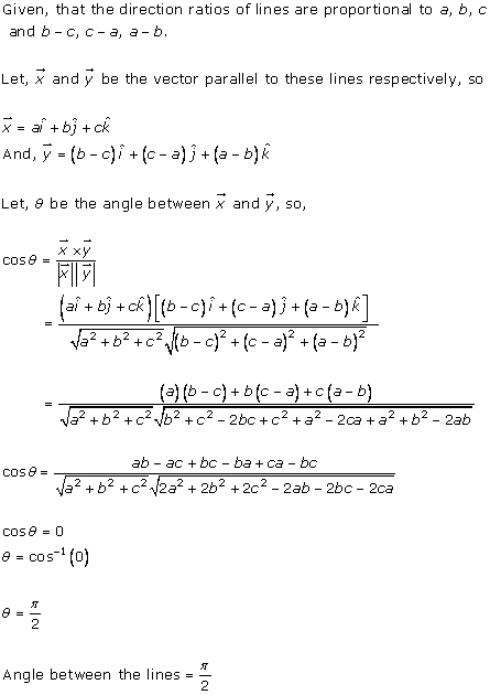 RD Sharma Class 12 Solutions Chapter 27 Direction Cosines and Direction Ratio Ex 27.1 Q10