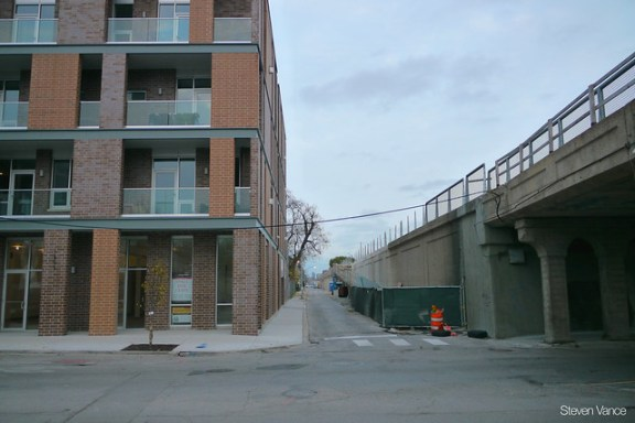 New housing near the Bloomingdale Trail