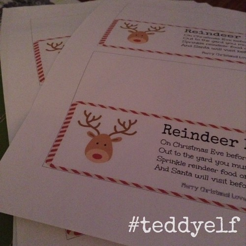 Reindeer Food Labels