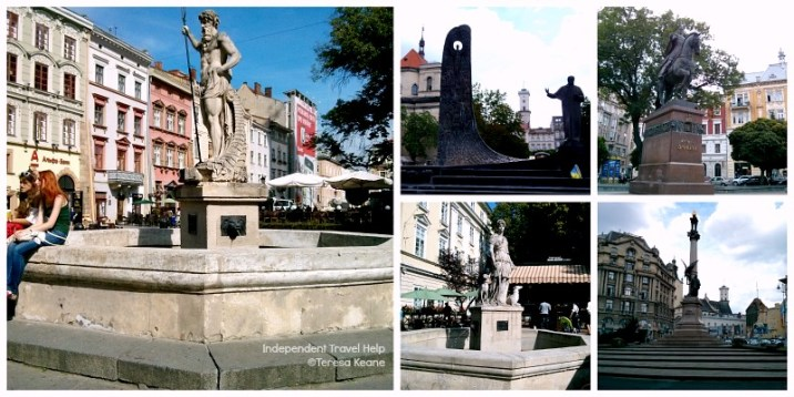 Lviv's Squares and Statues