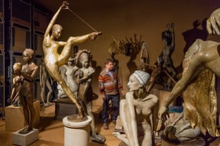 Skulpturen mit Winzer