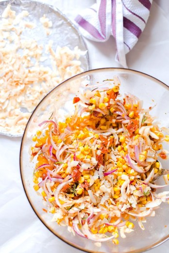 Sweet Corn and Toasted Coconut Salad