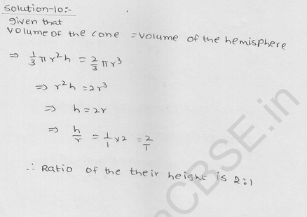 RD Sharma Class 9 solutions Chapter 21 Surface Area and volume of A Sphere Ex 21.1 16