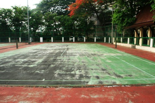 Worn Out Tennis Court