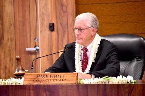 Maui County Council Chairman Mike White