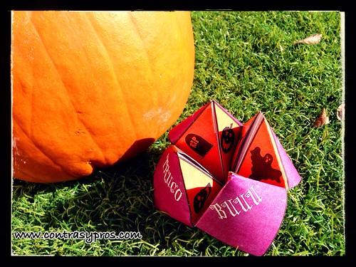 Juego de la fortuna para Halloween