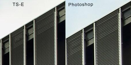 Het verschil in kwaliteit is duidelijk aanwezig. De linker is recht uit de camera, de rechter gecorrigeerd in Photoshop