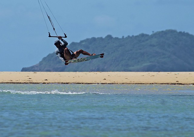 Kitesurfing at Cuyo Island, Palawan