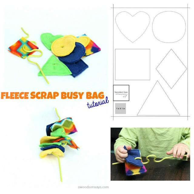 Fleece Scrap Busy Bag