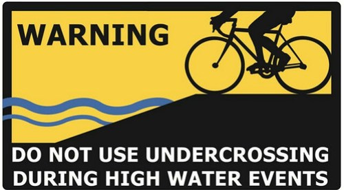 Watch for flooded trails