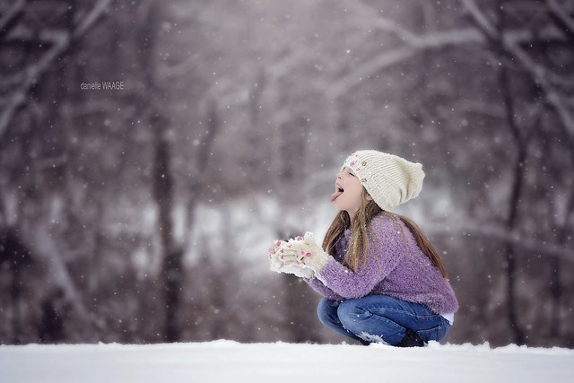 The first snow is always a magical occasion!