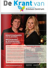 Cover 'De Krant van Vlinderstad Emmen Centrum' | december 2014