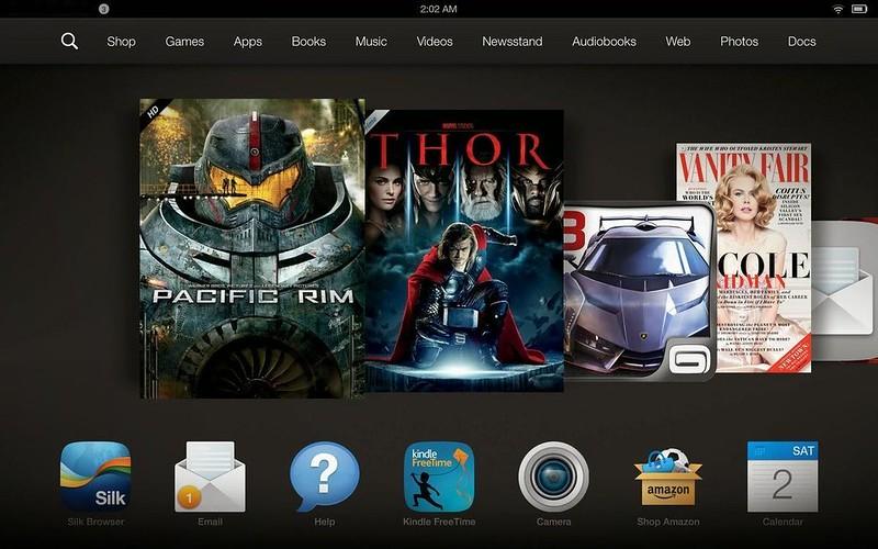 Kindle Fire HDX 7 Amazon interface