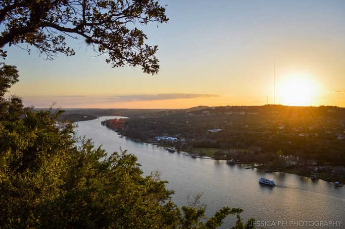 Mount Bonnell at Sunset in Austin Texas
