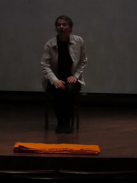 Etty Hathaway, as Camille Claudel, performs her honors project